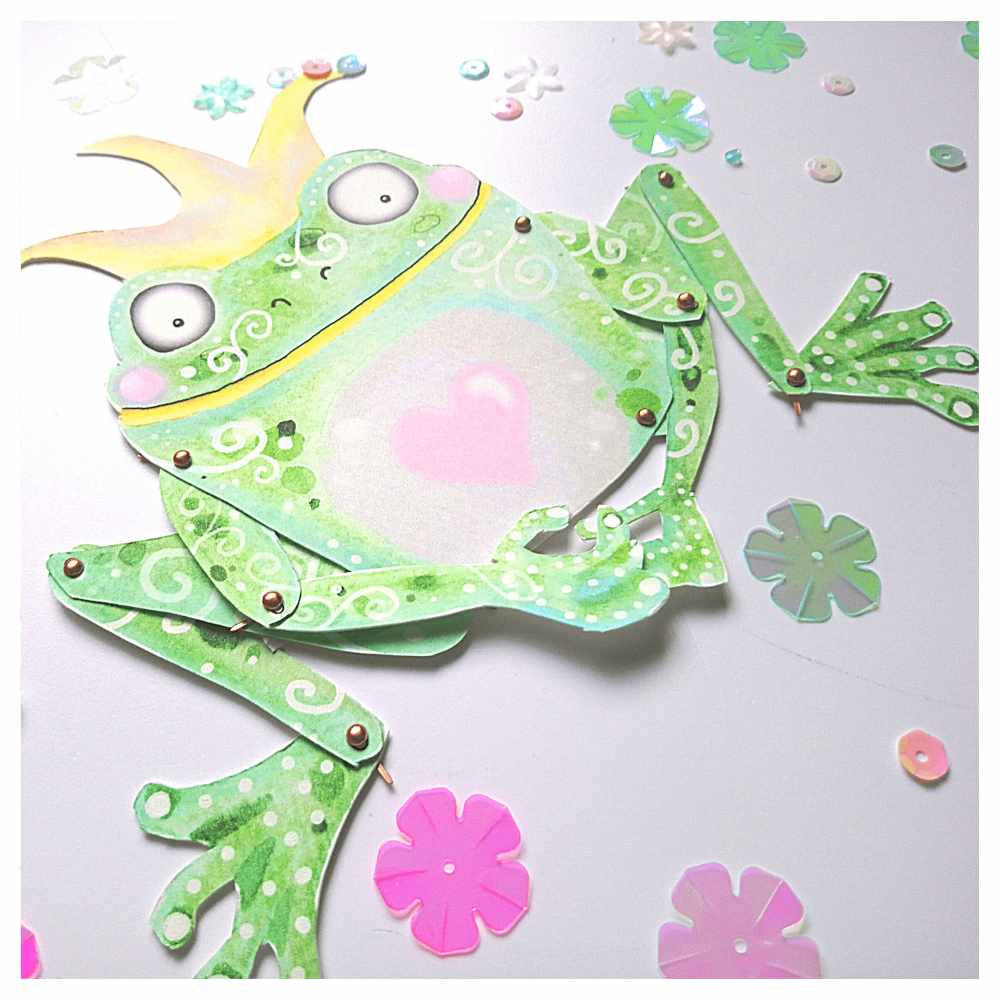 Frog Prince Paper Articulated Puppet Paper Doll
